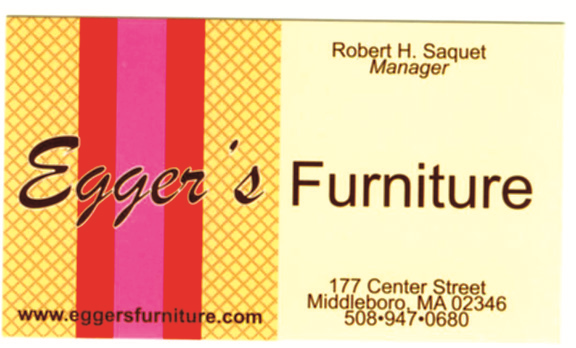 Eggers Furniture Gift Certificate Middleboro Ma